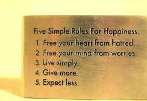 5 Simple Rules for Happpiness