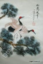 a1163-cranes-pine-chinese-silk-painting-2-150x220